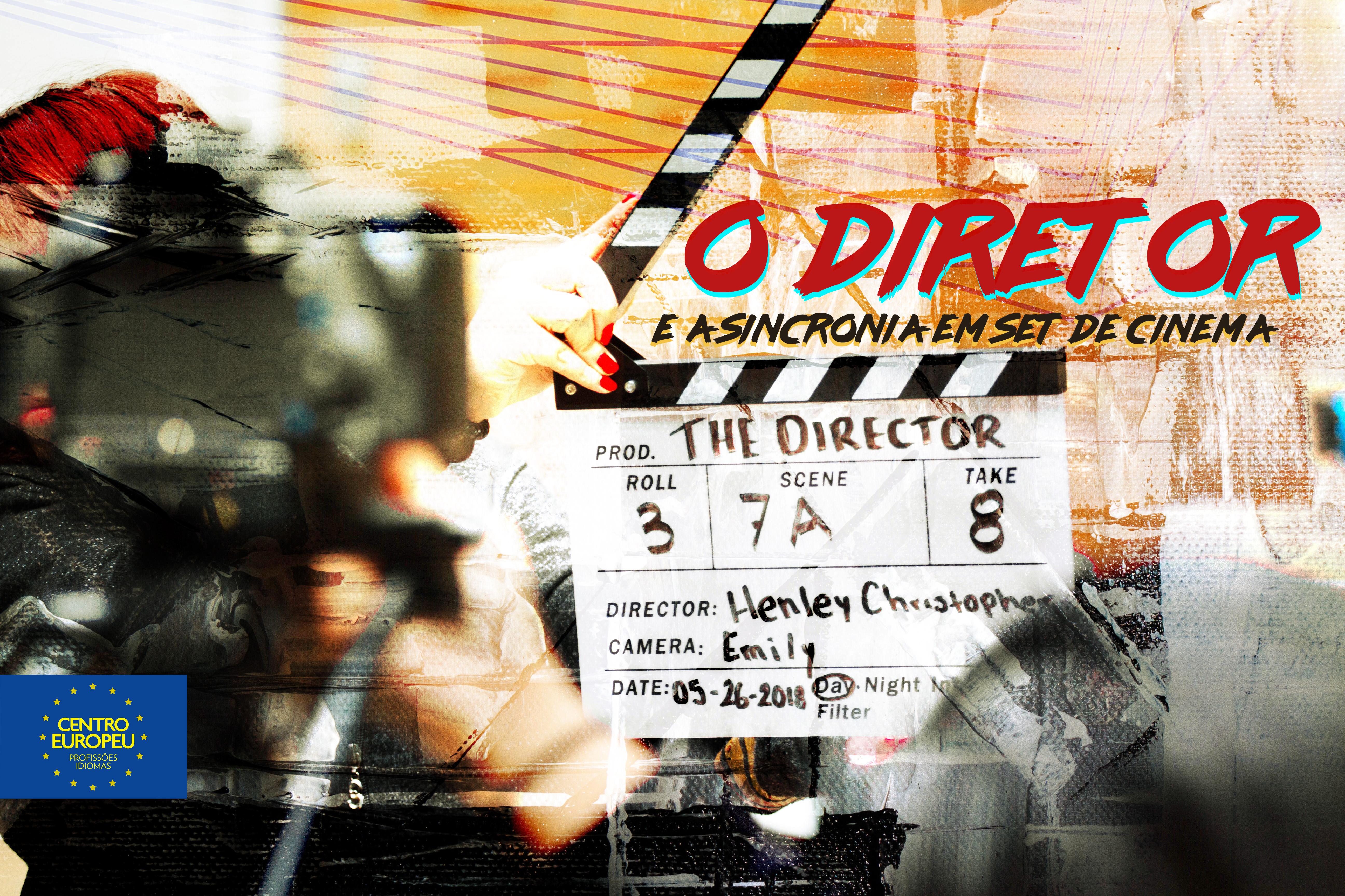 O diretor e a sincronia em set de cinema